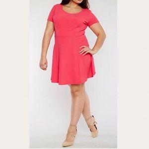 Dresses & Skirts - Plus Size Fuschia Pink Flare Skater Dress 1X 2X